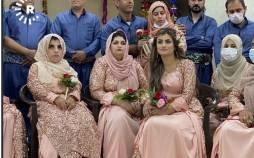 تصاویر عروسی دسته جمعی ۴۸ زوج نابینا و ناشنوا,عکس های عروسی در کردستان عراق,تصاویر جشن عروسی کردستان عراق