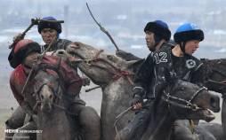 تصاویر مسابقه بُزکشی در قرقیزستان,عکس های مسابقه بزکشی,تصاویر مسابقات بزکشی در کشور قرقیزستان