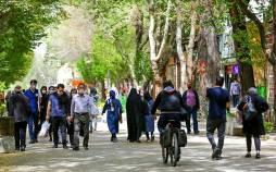 تصاویر وضعیت اصفهان در تعطیلات نوروز 1400,عکس های شهر اصفهان در نوروز 1400,تصاویر مسافران نوروزی در اصفهان