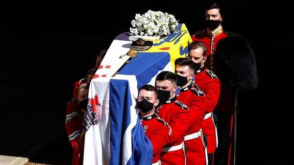 تشییع جنازه همسر ملکه بریتانیا