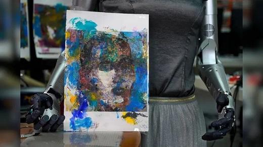 نقاشی ربات سوفیا,حراج نقاشی ربات سوفیا