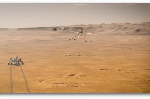 اولین پرواز بر سطح سیارهای دیگر,هلیکوپتر نبوغ