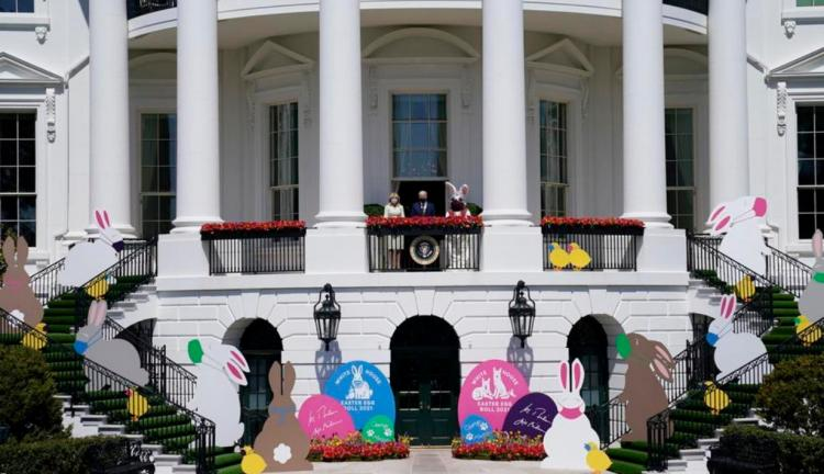 تصاویر جو بایدن و همسرش در مراسم عید پاک,عکس های مراسم عید پاک در کاخ سفید,تصاویر عید پاک در کاخ سفید