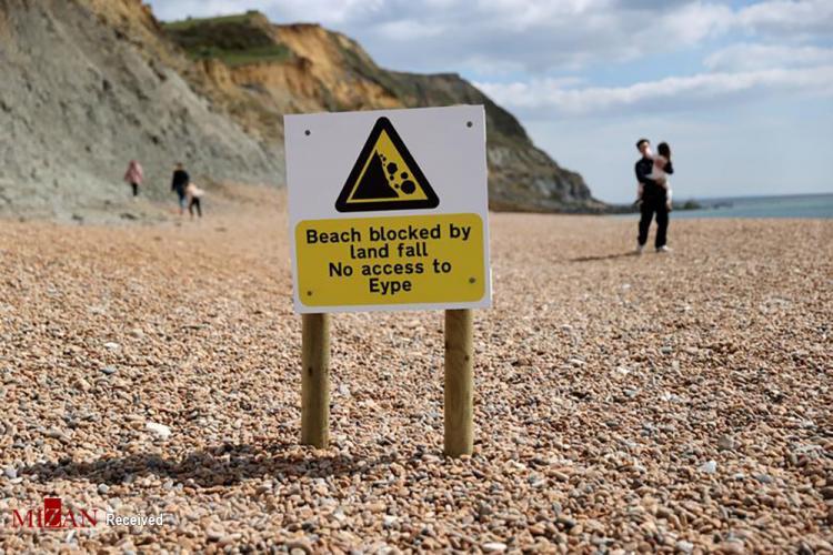 تصاویر رانش سواحل ژوراسیک,عکس های رانش در سواحل ژوراسیک,تصاویر رانش نگران کننده سواحل ژوراسیک در انگلستان