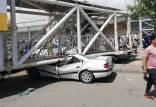 سقوط پل هوایی در بهارستان,پل هوایی در بهارستان