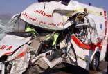 برخورد تریلی با آمبولانس درمانگاه دهق,تصادفات در اصفهان