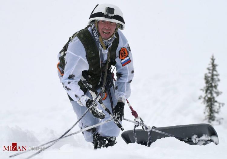 تصاویر مسابقه کوهنوردی اسکی ارتشی روسیه,عکس های مسابقه کوهنوری در روسیه,تصاویر مسابقات کوهنوری در روسیه