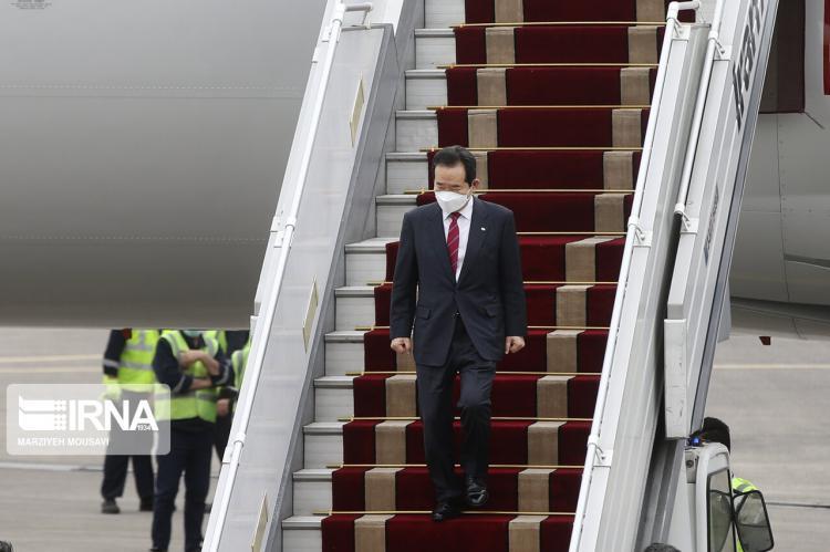 تصاویر ورود نخست وزیر کره جنوبی به تهران,عکس های نخست وزیر کره جنوبی در ایران,تصاویر استقبال از نخست وزیر کره جنوبی در ایران