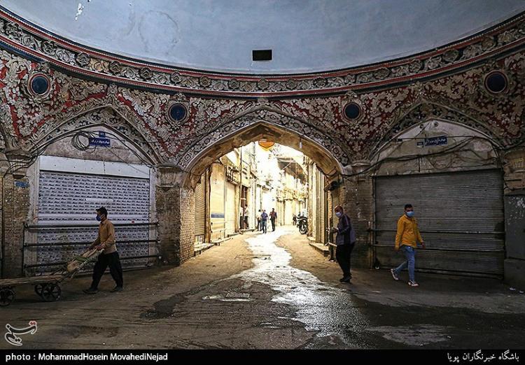 تصاویر تعطیلی بازار تهران در موج چهارم کرونا,عکس های تعطیل شدن بازار تهران,تصاویر تعطیلی بازار تهران