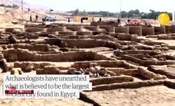 فیلم/ کشفیات جدید در بزرگترین شهر باستانی مصر
