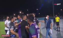 فیلم   بی اخلاقی بازیکن الشرطه و درگیری با دیاباته بعد از بازی