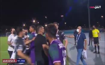 فیلم | بی اخلاقی بازیکن الشرطه و درگیری با دیاباته بعد از بازی