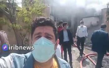فیلم | 6 کشته بر اثر آتش سوزی کارگاه در جاجرود