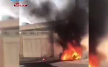 فیلم/ سقوط پهپاد آموزشی در شاهینشهر