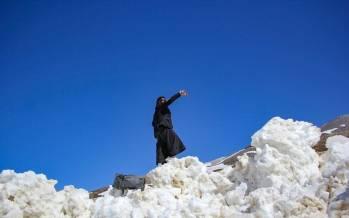 تصاویر برفروبی و بازگشایی جاده موگویی,عکس های جاده موگویی,تصاویر برف روبی جاده موگویی