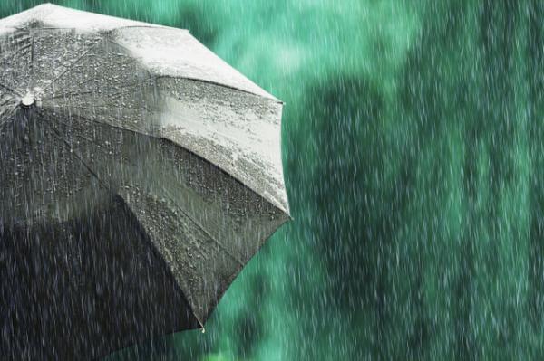 پیش بینی وضع هوا, وقوع رگبار باران و وزش باد شدید