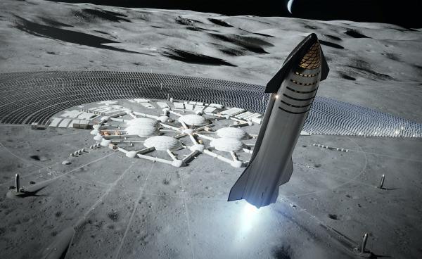 فرود انسان روی ماه,ایلان ماسک