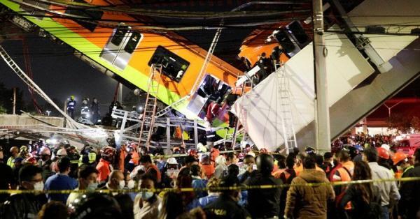ریزش پل هنگام عبور قطار در مکزیکوسیتی,حوادث مکزیک