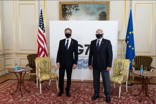 جوزپ بورل و وزیر خارجه آمریکا,گفتگوی جوزپ بورل و وزیر خارجه آمریکا در مورد ایران