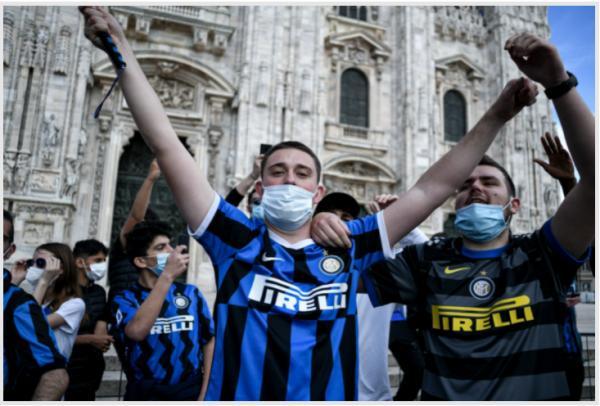 خوشحالی طرفداران اینتر,سری آ ایتالیا