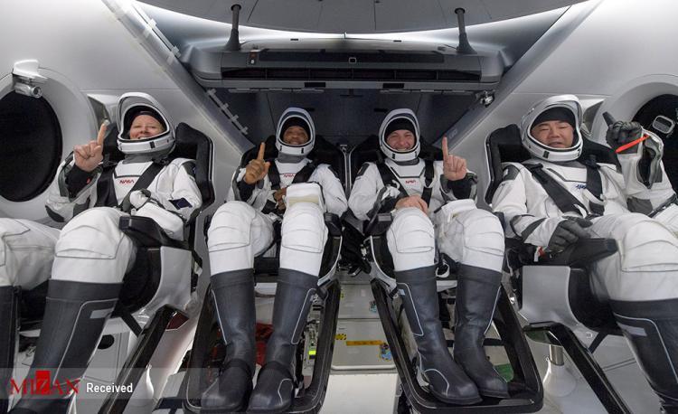 عکس های بازگشت چهارفضانورد از ایستگاه فضایی,ویدیو فضانوردان در ایستگاه فضایی,تصاویر فضانوردان
