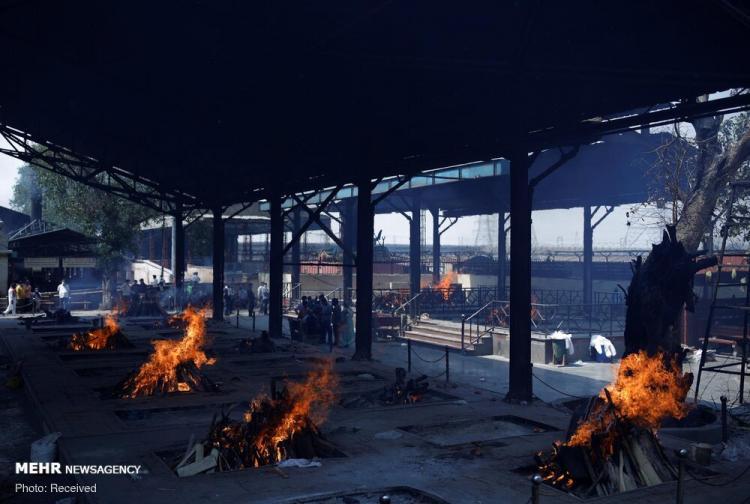 تصاویر سونامی کرونا در هند,عکس های وضعیت کرونا در هند,تصاویر شیوع کرونای هندی