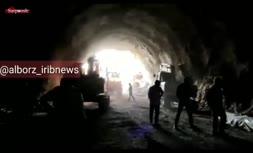 فیلم/ ریزش تونل در آزادراه تهران-شمال با دو کشته
