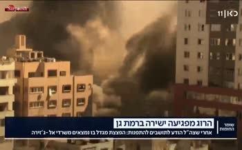 فیلم/ انهدام برج «الجلاء» در غزه توسط اسرائیل