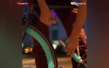 فیلم/ دوچرخه ای که خودش قفل خودش است
