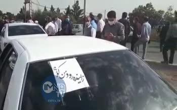 فیلم | تجمع کشاورزان اصفهان برای حق آبه زایندهرود و حرکت به سمت چادگان