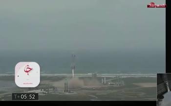 فیلم/ فرود موفقیت آمیز فضاپیمای استارشیپ