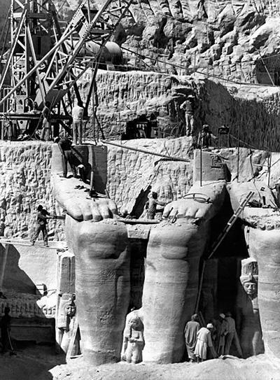 تغییر محل معابد ابوسمبل مصر,مصر