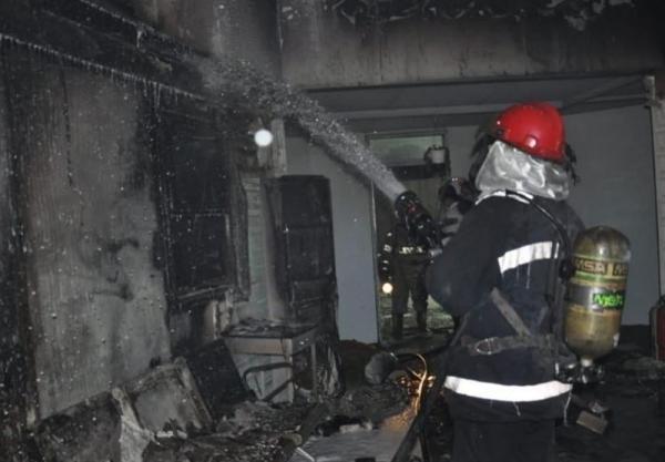 آتشسوزی در کارخانه مواد غذایی در اتوبان کرج قزوین,آتش سوزی کارخانه مواد غذایی