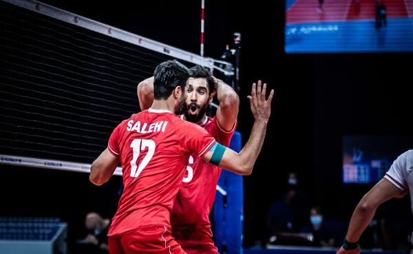 دیدار تیم ملی والیبال ایران و آمریکا,لیگ ملت های والیبال 2021