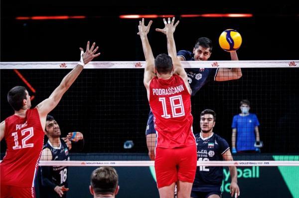 دیدار تیم ملی والیبال ایران و صربستان,لیگ ملت های والیبال 2021