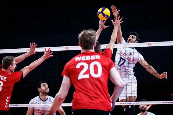 دیدار تیم ملی والیبال ایران و آلمان,لیگ ملت های والیبال 2021