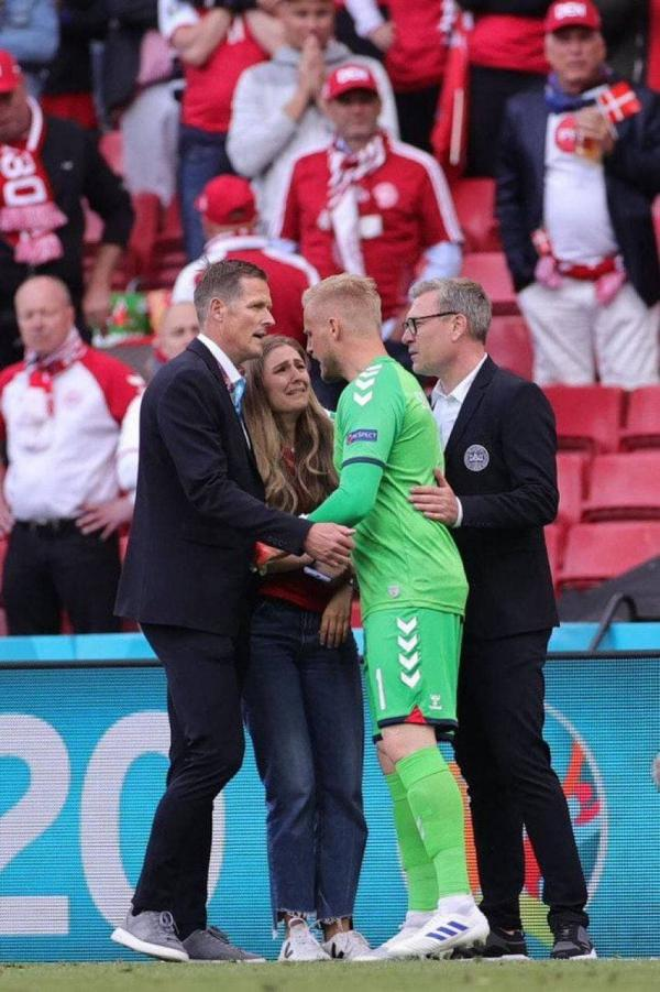 دیدار تیم ملی فنلاند و دانمارک,مصدومیت شدید کریستین اریکسن