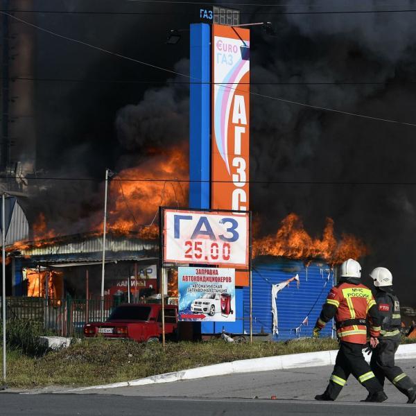 آتش سوزی پمپ بنزین در روسیه,حوادث روسیه