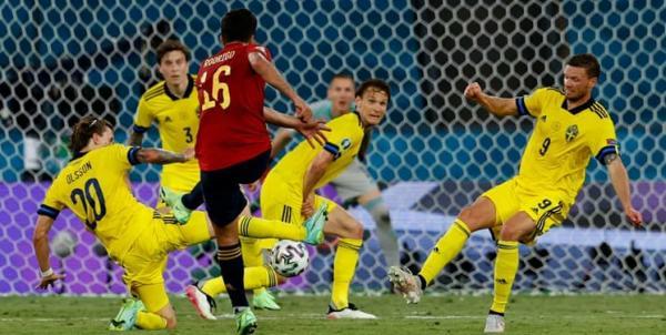 دیدار تیم ملی اسپانیا و سوئد,یورو 2020