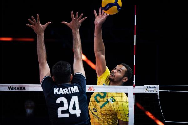 دیدار تیم ملی والیبال ایران و برزیل,لیگ ملت های والیبال 2021