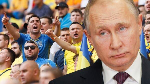 ولادیمیر پوتین,شعار هواداران اوکراین علیه پوتین