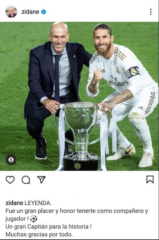 واکنش زیدان به جدایی راموس از رئال مادرید,زیدان و راموس
