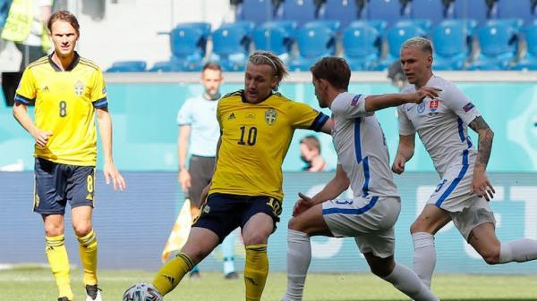 دیدار تیم ملی سوئد و اسلواکی,یورو 2020