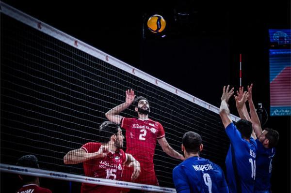 دیدار تیم ملی والیبال ایران و فرانسه,لیگ ملت های والیبال 2021