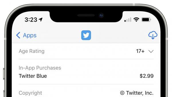 توییتر,سرویس Twitter Blue در اپ استور