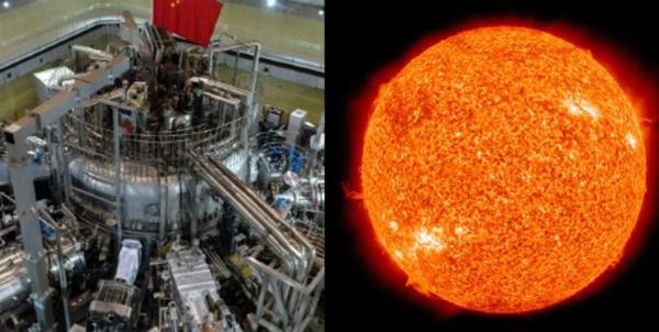 خورشید مصنوعی,دوام خورشید مصنوعی چین در دمای 120 میلیون درجه