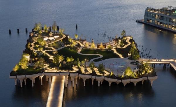 جزیرهای جدید در نیویورک,رودخانه هادسون شهر نیویورک