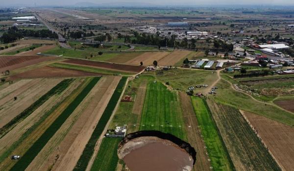 ظاهر شدن گودال ۲۸ متر مربعی در مکزیک,گودال در مکزیک