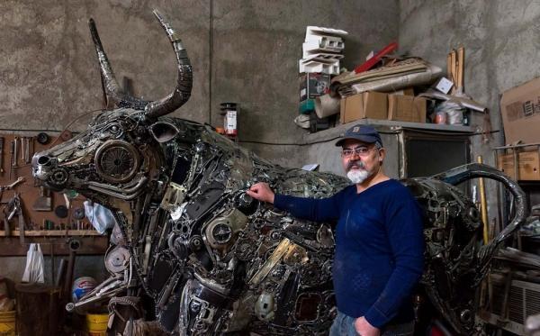 مجسمه سازی,ضایعات فلزی