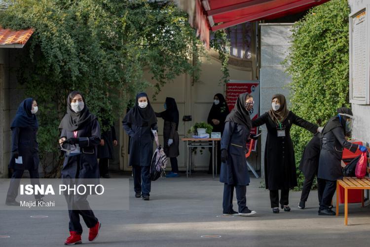تصاویر برگزاری حضوری آزمون نهایی دانشآموزان در تهران,عکس های امتحانات نهایی در تهران,تصاویر امتحانات در تهران